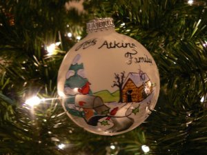 Atkins family ornament