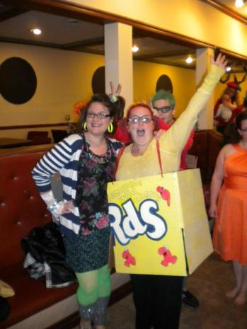 Emily and I last Halloween. Aren't we ridiculous?